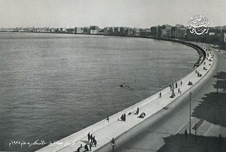 كورنيش محطة الرمل بالاسكندرية عام 1935 م