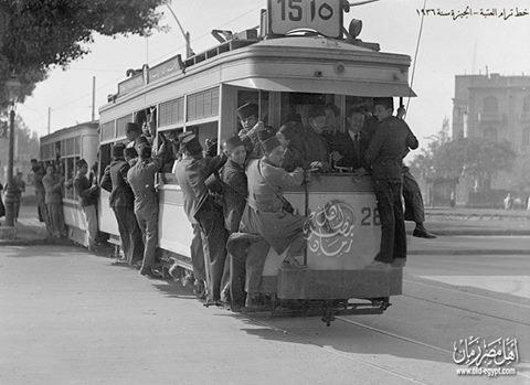 خط ترام العتبة - الجيزة سنة 1936