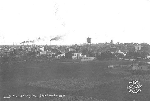 منظر عام لمدينة دمنهور في عشرينات القرن العشرين
