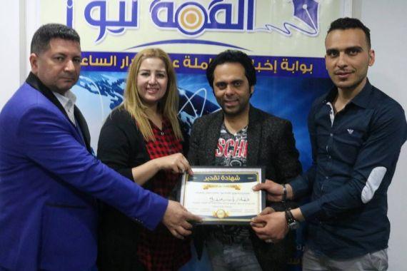 المذيعة سوسن الحسينى .. تحاور الفنان ياسر عدوية