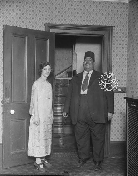 صورة لنعمان باشا الأعصر مديرمركز المحلة الكبري سنة 1925 .