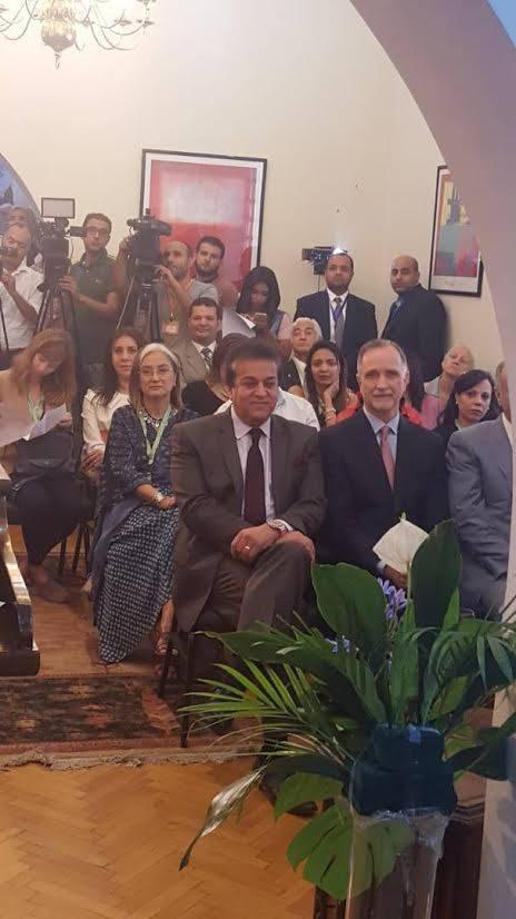 وزير التعليم العالى والبحث العلمى يشهد الاحتفال بمرور 70 عاماً على تأسيس هيئة فولبرايت