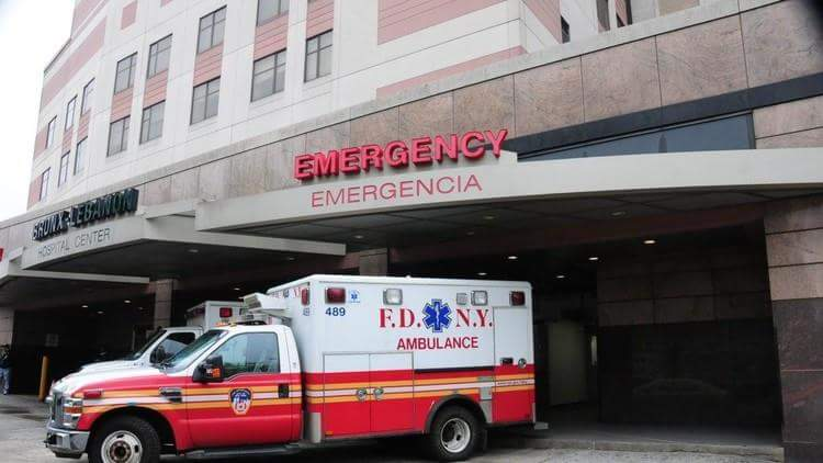 مبنى مستشفى برونكس ليبانون بمدينة نيويورك محاصر والمسلح بداخله