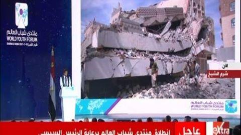 شاهد كلمه الشاب اليمني التى ابكت الجميع الان امام الرئيس السيسي فى مؤتمر الشباب