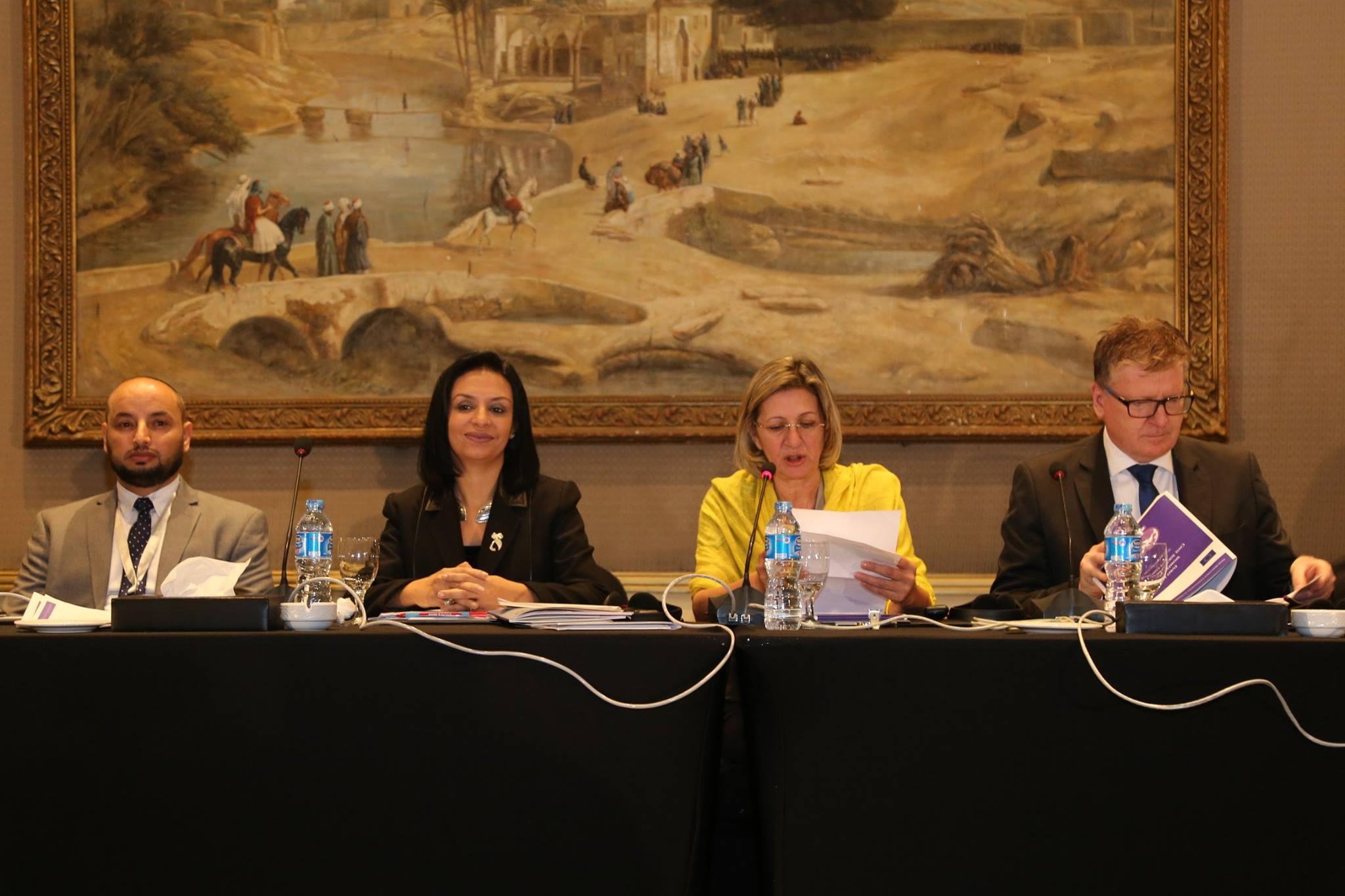 """مشاركة """"مايا مرسى """" فى فعاليات الجلسة الافتتاحية لمؤتمر """"منظمات المجتمع المدني لحقوق النساء فى المنطقة الأورومتوسطية"""""""