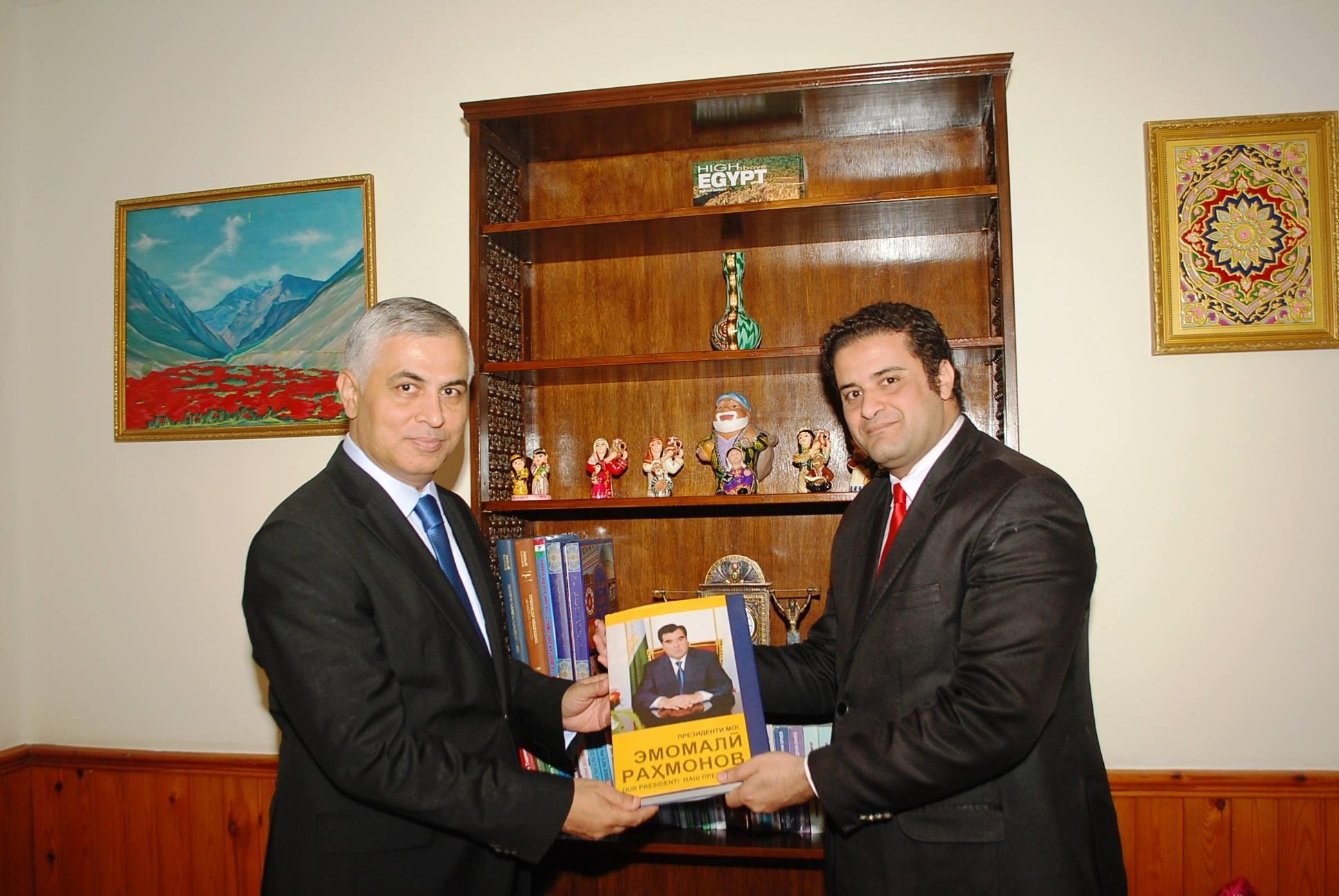 سفير تاجيكستان يؤكد وقوف دولته دائماً بجوار مصر في المراحل الدقيقة في المستقبل