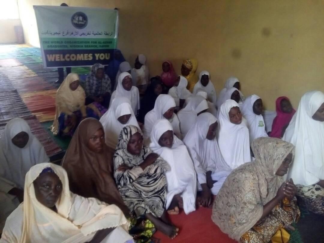 """خريجي الأزهر يقيم محاضرة بعنوان """" رسالة الأزهر للنساء بنيجيريا"""" """