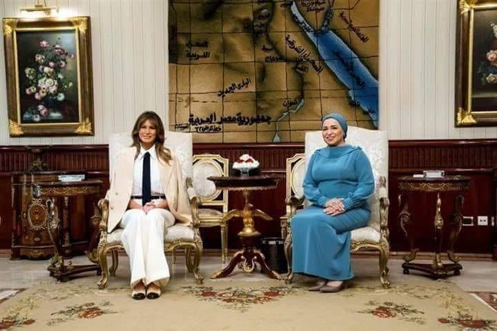 ميلانيا ترامب تشكر مصر علي حسن الإستقبال
