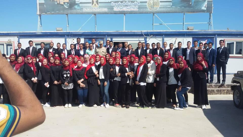 إنطلاق الفوج الأول من شباب الجامعات المصرية لزيارة مدينة العلمين الجديدة