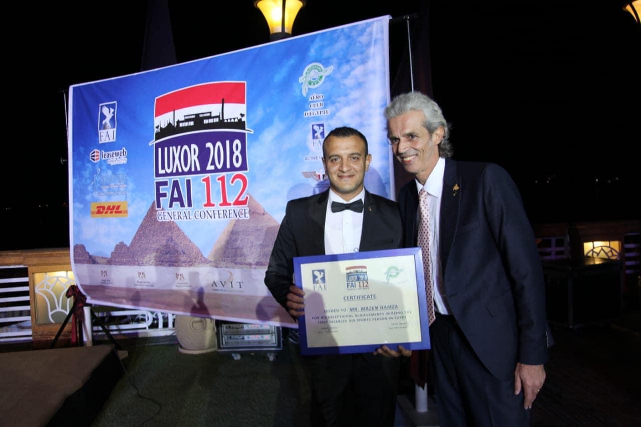 تكريم مازن حمزة ضمن فعاليات عمومية الإتحاد الدولى للطيران