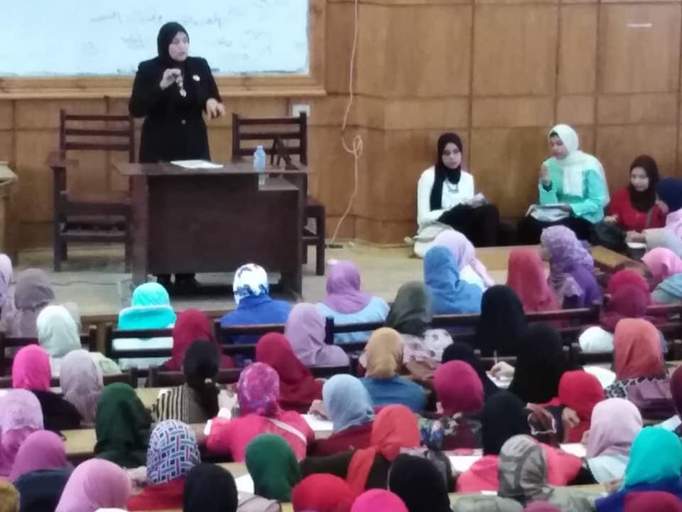 القومى للمرأة يبحث النهوض بأوضاع المرأة المصرية بكليه الآداب جامعة دمنهور