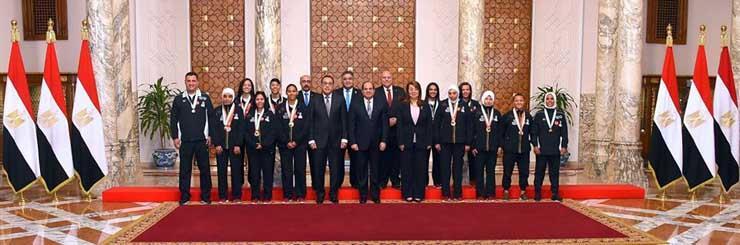 المجلس القومى للمرأة يشكر الرئيس السيسي لدعمه ومساندته لبطلات مصر