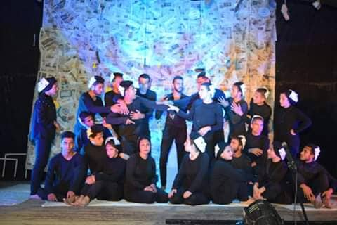 ثورة الموتى فى المهرجان المسرحى الطلابى الرابع  لجامعة المنوفية