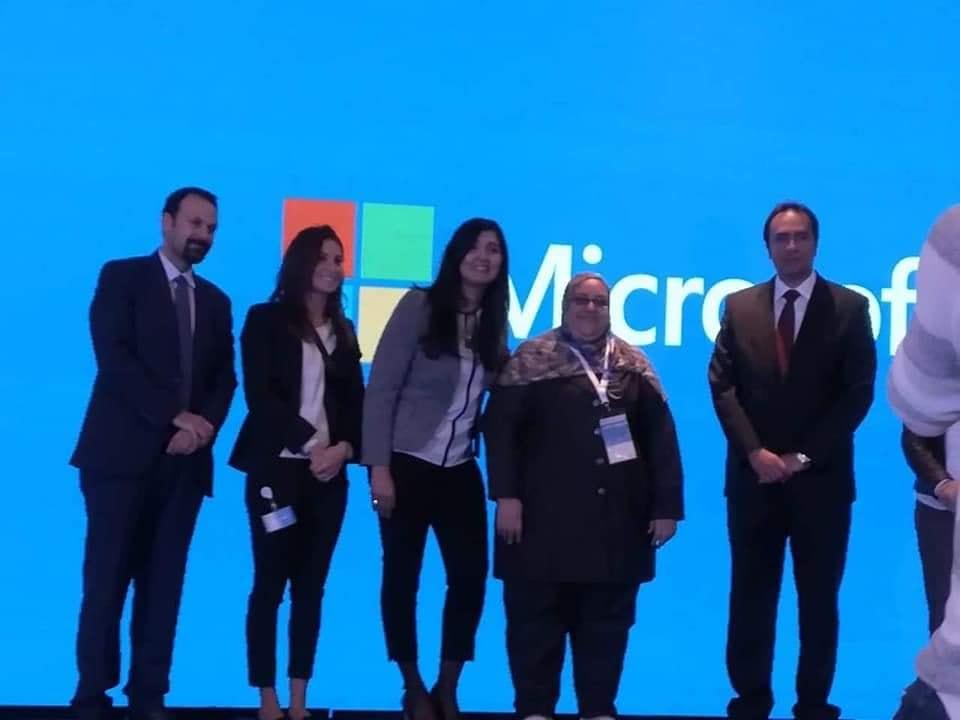 تكريم سفيرة الوادي الجديد من مايكروسوفت مصر
