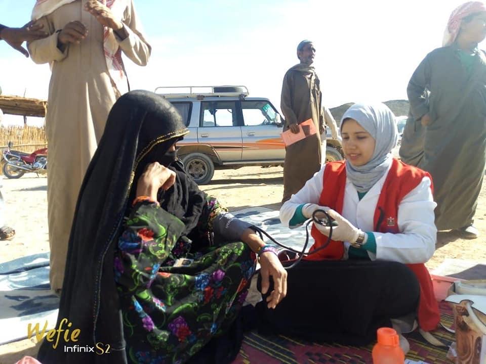 """القومي للمرأة يتابع تنفيذ حملة """" 100 مليون صحة """" في قرية الصيادين بالغردقة"""