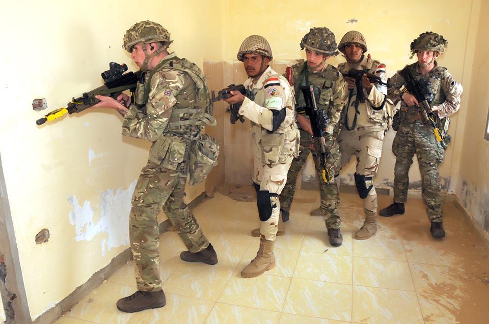 """بالفيديو إستمرار فعاليات التدريب المشترك المصرى البريطانى """" أحمس - 1 """""""