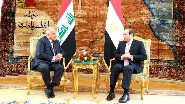 الرئيس السيسي يؤكد استعداد مساهمة مصر في إعادة الإعمار فى العراق