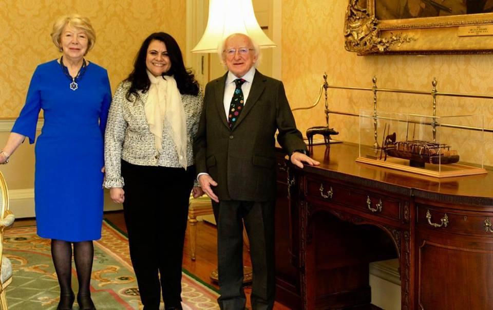 رئيس أيرلندا يستقبل سفيرة مصر في دبلن للتوديع بمناسبة إنتهاء فترة خدمتها