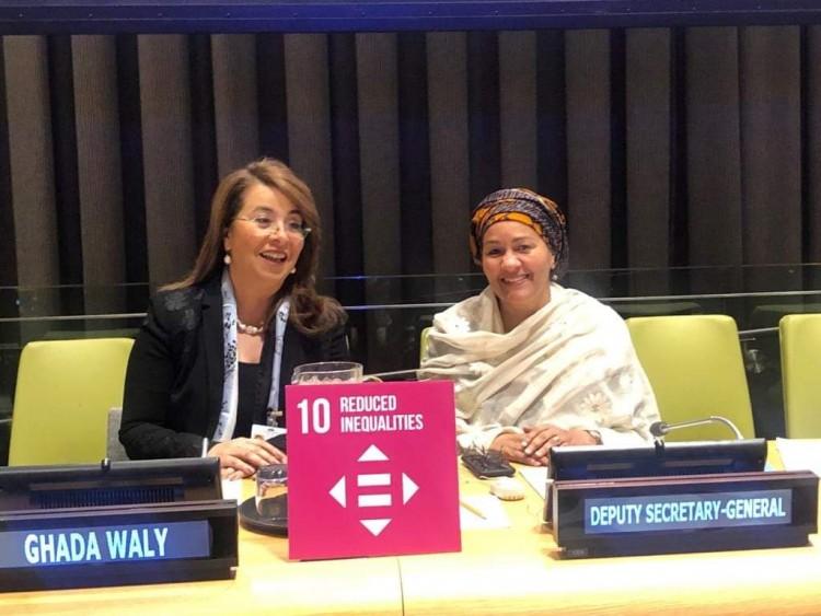 غادة والي تلقي بيان مجموعة ال٧٧والصين حول الحماية الاجتماعية بالأمم المتحدة