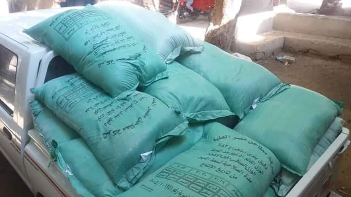 ضبط 45 شيكارة دقيق مدعم بمخزن قرية صفط الشرقية في المنيا