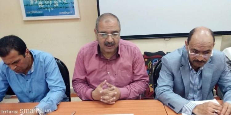 النيلي يترأس لجنة المقابلات الشخصية للمتقدمين لشغل وظيفة موجه عام بمطروح