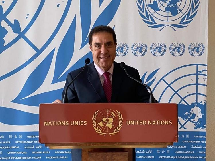 فتحي عفانة يترأس وفد العربي الأوروبي لحقوق الانسان بالأمم المتحدة