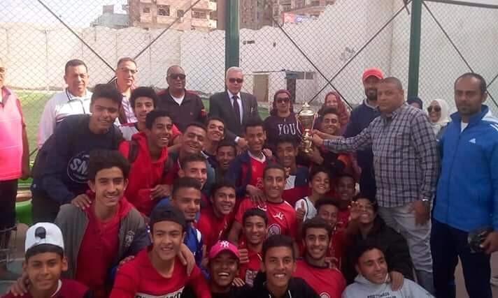 منتخب مدارس كفر شكر بطل القليوبية فى كرة القدم