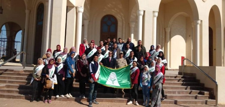 انطلاق الفوج السابع عشر من شباب جامعة المنوفية لزيارة العاصمة الإدارية الجديدة