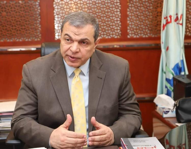سعفان يتابع إتخاذ الإجراءات الاحترازية مع مديريات القوة العاملة الـ 27 محافظة