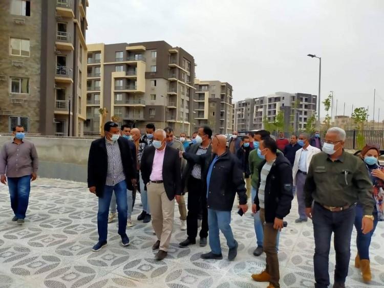 """مسئولو """"الإسكان """" يتفقدون مشروعات مدينة المنيا الجديدة"""