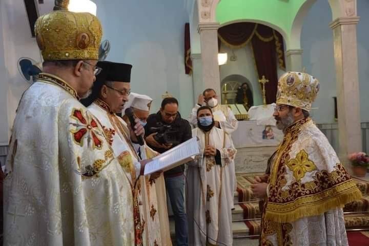بطريرك الكاثوليك يترأس صلوات رسامة وتجليس الأنبا توما مطرانا لإيبارشية سوهاج