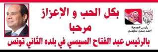 السيسي بالجلسة الافتتاحية للقمة العربية في دورتها الثلاثين بتونس