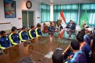 مرزوق يكرم فريق الاصلاح الزراعي الرياضي لحصوله علي المركز الاول في دوري مراكز شباب القليوبية