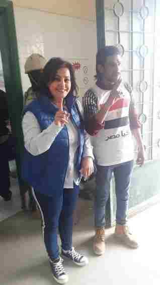 نائب وزير الزراعة تدلي بصوتها في الاستفتاء علي التعديلات الدستورية