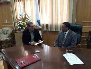 محمود الهندى وحوار خاص مع الاستاذ الدكتور محمد أبو القمصان عميد تجارة جامعة كفر الشيخ