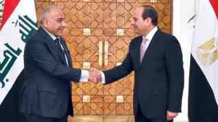 الرئيس السيسي يتلقي  اتصالاً هاتفياً من رئيس الوزراء العراقي