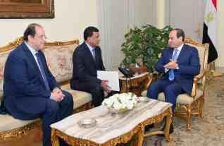 الرئيس السيسي يستقبل رئيس الأمن والمخابرات بدولة السودان الشقيق