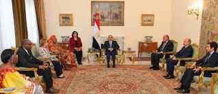 الرئيس السيسي يستقبل رئيسة اللجنة الأفريقية لحقوق الإنسان والشعوب