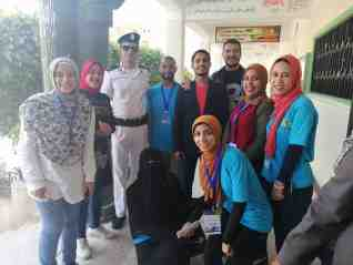 شباب الجامعة و مبادرة الكلمة كلمتك بكفر الشيخ يتطوعون  في الاستفتاء علي التعديلات الدستورية