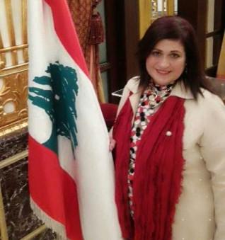 ايتل جنسن والبعبولى بصالون تغريد فياض اللبنانى