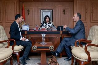 وزيرة الهجرة تستقبل مصري عضوا بالحزب الاشتراكي الألماني