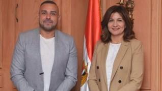 وزيرة الهجرة تستقبل أول عالم فضاء مصري يعمل بالوكالة الألمانية