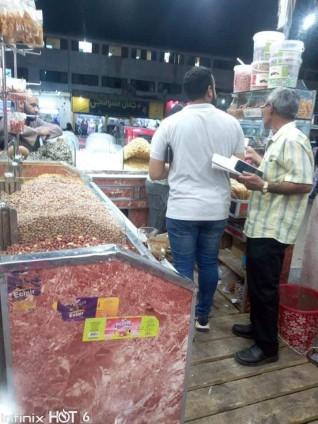 حملات علي الأسواق لضبط المواد الغذائية الغير صالحة في إدفو غرب
