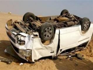 إصابة 6 أشخاص في حادث انقلاب «ميكروباص» فى سوهاج