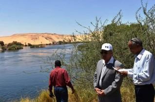 محافظ أسوان يوجه بإزالة التعديات بالجزر النيلية