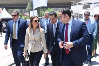 وزيرة الإستثمار تفتتح خط إنتاج جديد لشركة «جلاكسو» باستثمارات 20 مليون جنيه