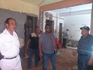 رئيس حى المعصرة يؤمر بإخلاء عقار وإنقاذ ٢٠٠ مواطن من كارثة