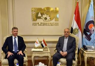 «العربية للتصنيع» تبحث سبل التعاون المشترك مع سفير قبرص بالقاهرة