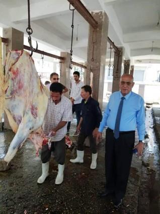 وكيل وزارة الطب البيطري بكفرالشيخ يتفقد أعمال  مجزر مطوبس ثاني أيام عيد الأضحى المبارك