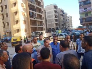 رئيس مركز ومدينة كفر الشيخ يقوم بحملات مفاجئة بحي غرب المحافظة